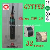 Сели на мель сердечником, котор кабель бронированного волокна GYTY53-24 оптически в напольном