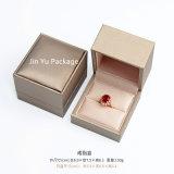 Коробка квадратных поддельный кожаный ювелирных изделий подарка упаковывая для кольца