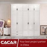 تم اتّصل ب حصن حديثة غرفة نوم أثاث لازم خزانة ثوب أبيض مع خفيفة سكّة حديديّة داخلة ([ك01-05])