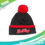 Sombrero hecho punto invierno abofeteado de acrílico modificado para requisitos particulares con la tapa de la bola (089)