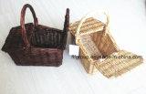 Qualitäts-handgemachter Kind-Weide-Spielzeug-Korb-Weidengeschenk-Korb