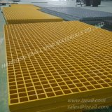 Color amarillo FRP que ralla para los Deckings del muelle