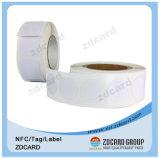 Tag exato do PVC RFID com microplaqueta