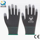 Усиленные перстом перчатки безопасности PU Coated