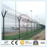 溶接された金網の塀か機密保護空港塀