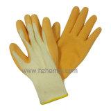Guante cubierto látex del trabajo de la seguridad de 10 guantes del calibrador