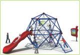 Cour de jeu s'élevante extérieure de bille de l'espace de Kaiqi avec la glissière et le grimpeur (KQ60144C)