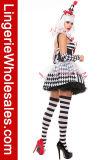 Сексуальный Costume Cosplay причудливый платья партии Halloween клоуна Harlequin женщин