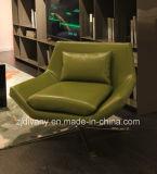 Sofà di cuoio moderno italiano della mobilia della camera da letto
