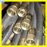 Boyau en caoutchouc hydraulique d'ensemble de tuyau avec ajuster sur des les deux l'extrémité