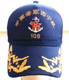 Почищенные щеткой бейсбольные кепки спорта вышивки сандвича Twill хлопка (M-1075)