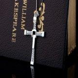 18inch 925 순은 사슬 목걸이 고품질 보석을%s 가진 여자 925의 순은 십자가 펀던트 목걸이
