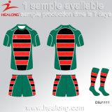 Vêtements de sport ronds de collet du Jersey du plus défunt rugby de modèle