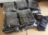 Черные мешки подарка сатинировки с черным шнуром