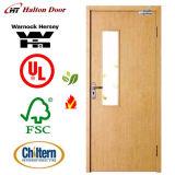 英本国BSの標準証明されたか防火扉が付いている木の火証拠のドアか木のドア