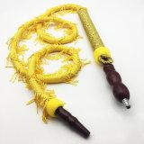 Tuyau en bois de narguilé de Shisha de narguilé de modèle jaune de fouet (ES-HH-007)