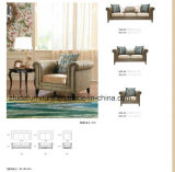 O sofá clássico popular ajustou-se com madeira contínua