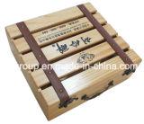 Popular Diseño Personalizada Caja De Madera Paulownia Sólido Para Almacenaje De Vino
