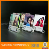 5X7 Clear Thick Desktop Product Display Frame / Magnetic Acrylic Picture Photo Frame