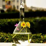 Vase en verre à fleur transparente soufflé par main/vase en cristal