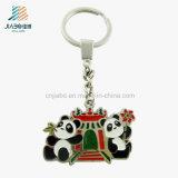 Entwurfs-fördernder Dekoration-Legierungs-Decklack-kundenspezifischen Panda Keychain freigeben
