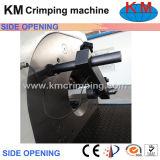 Máquina de friso da mangueira hidráulica aberta do lado que frisa a mangueira hidráulica