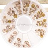Manucure en cristal de gemme de décoration de Rhinestone de beauté d'art d'ongle (D77)