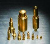 Pin a mola dobro personalizado de Pogo dos conetores da fileira 15pin com chapeamento de ouro