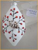 クリスマスツリーの装飾のためのホワイトクリスマスのガラスクラフト