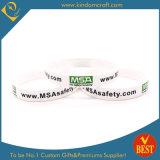 Wristband di gomma stampato modo all'ingrosso dalla Cina
