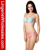 Flirty Lace-up gedruckte Bikini-Oberseite-Verband-reizvolle Badebekleidung für Frauen