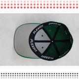 緑の刺繍の平らな縁の平らな急な回復の帽子