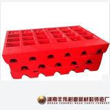 Kiefer-Zerkleinerungsmaschine-Platte mit hohem Mangan-Stahl