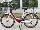 Vélo électrique de ville avec la batterie au lithium