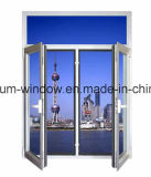 Niedriges-e Glasaluminiumflügelfenster/Schwingen-Balkon-Fenster