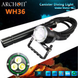 Luz brilhante super Wh36 do mergulho do mergulhador 3000lumens do Archon (HAIII)