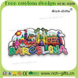 Магниты холодильника PVC собрания сувенира подгоняли подарки Испанию Барселона выдвиженческие (RC-SN)