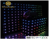Feuerfester Anblick-Vorhang RGB-videovorhang des Samt-P18 LED für DJ-Stand-Disco-Verein-Stadiums-Erscheinen
