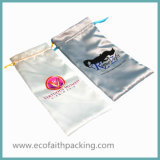 高品質のサテンのドローストリングのギフト袋ポリエステルサテン袋