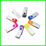 プラスチックUSBの棒のPendriveの金属の旋回装置USBのフラッシュ駆動機構