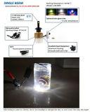 Farol do diodo emissor de luz do farol 7200lm 60W H11 do diodo emissor de luz de Yellow3000k/White6000k/Blue10000k