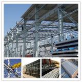 Estructura de acero del almacén con los edificios industriales