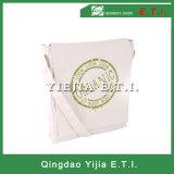 Подгонянный мешок посыльного холстины хлопка в белом цвете