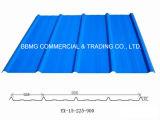 Hoja de acero del material para techos del color del metal hojas acanaladas del material para techos del aislante de calor de 3 capas UPVC