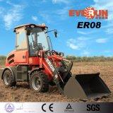 Everun 2017 de MiniLader van het Wiel van het VoorEind Er08.800kg met Ce, TUV, Rops&Fops