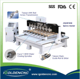 マルチスピンドルCNCの彫版機械4軸線CNC機械