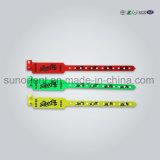 Wristband de encargo de la identificación del interno del vinilo 13.56MHz