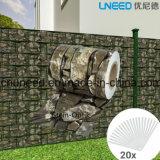 Cerca Anti-ULTRAVIOLETA del jardín de la pantalla de la tira del PVC de Stein-Optik 450g el 19cm*35m
