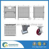 Tipo de levantamento de venda maioria recipiente da gaiola Foldable do armazenamento do metal do engranzamento de fio