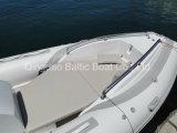 Yacht gonfiabile rigido 580 dell'imbarcazione a motore della vetroresina di pesca di Sprots della nervatura con la sezione comandi concentrare